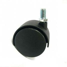 Колесо мебельное черное 1501-50х10   AMIG   /т. упак./