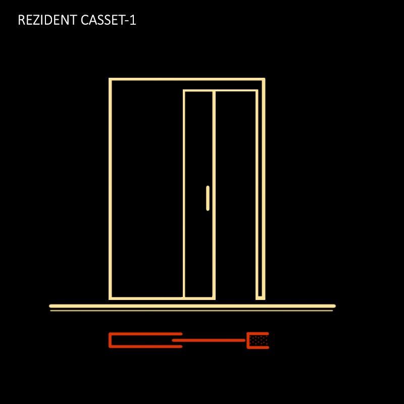 Кассета-пенал для одностворчатых дверей CASSET-1