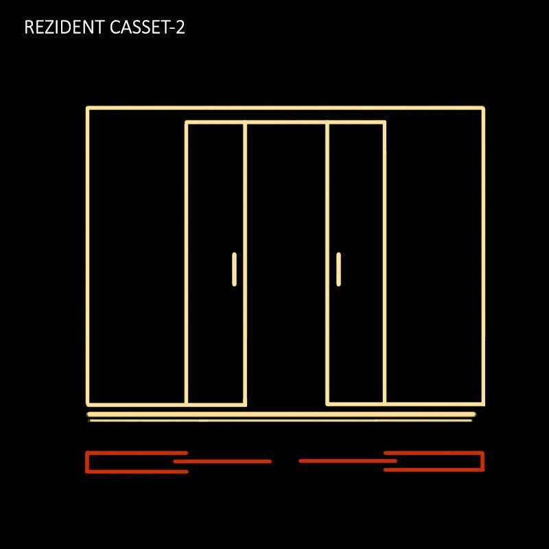 Кассета-пенал для двухстворчатых дверей CASSET-2