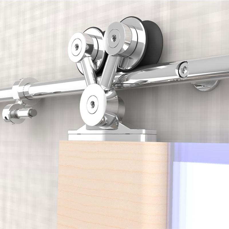 Сдвижной механизм открытого типа для деревянных дверей модель PQ001-2