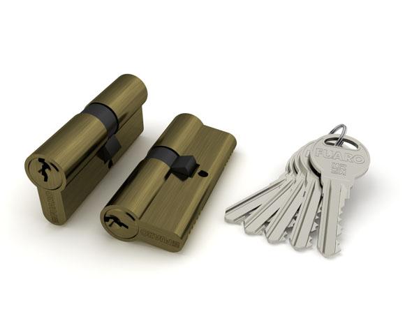 Цилиндровый механизм R300/60 mm-BL (25+10+25) AB бронза 5 кл. БЛИСТЕР